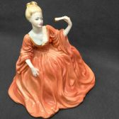 Статуэтка. Фарфор. COALPORT LADIES OF FASHION MADELEINE FIGURINE.